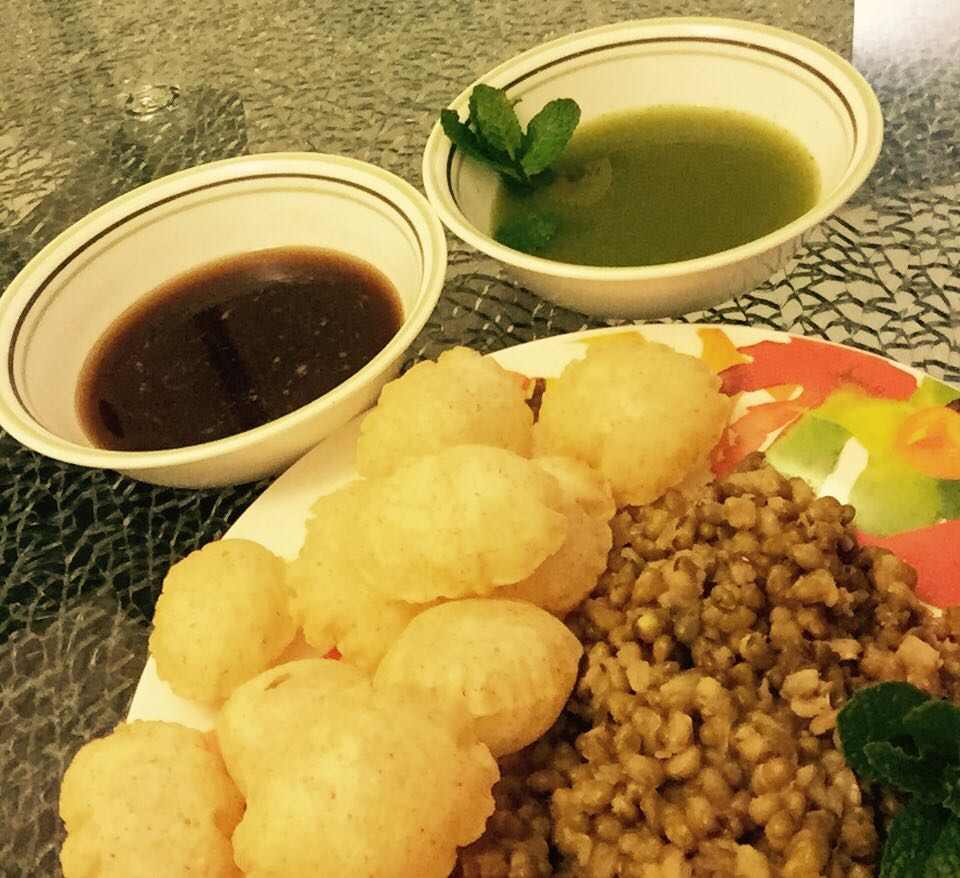 Mouth watering chat from my MOM'S Kitchen- Pani Puri